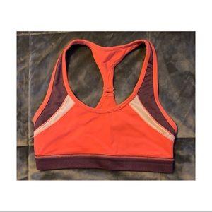 AERIE orange & burgandy sports bra 🌻
